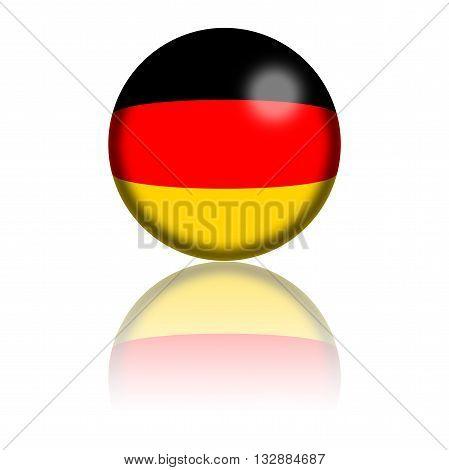 Germany Flag Sphere 3D Rendering