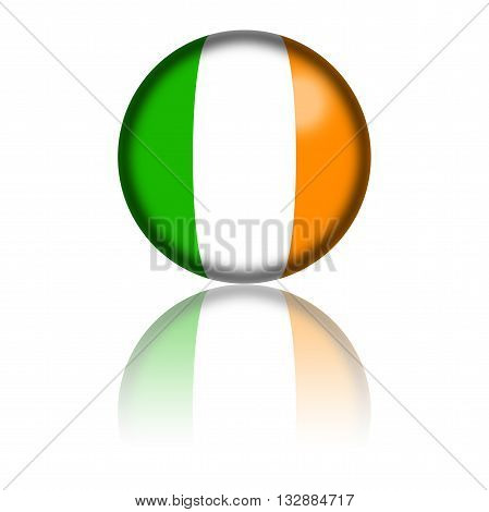 Ireland Flag Sphere 3D Rendering