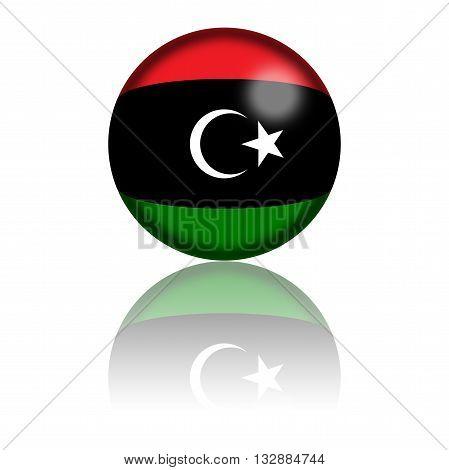 Libya Flag Sphere 3D Rendering