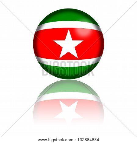 Suriname Flag Sphere 3D Rendering