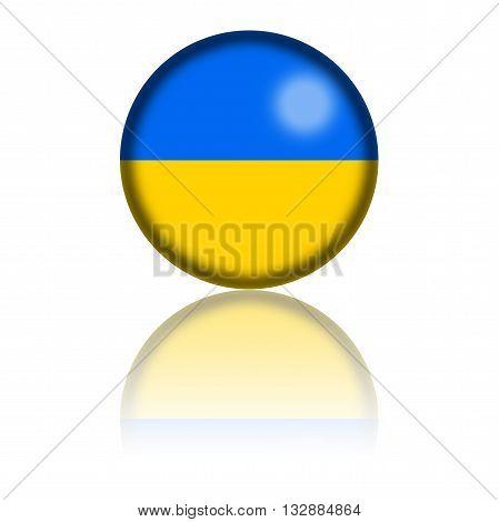 Ukraine Flag Sphere 3D Rendering