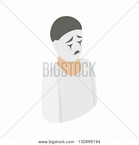 Mime icon in isometric 3d style on a white background