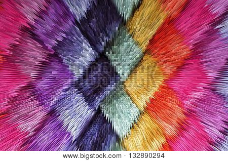 Texture Of Colored Fabric, Pyramid Extrusion Color Background, Gradient, For Backgrounds And Texture