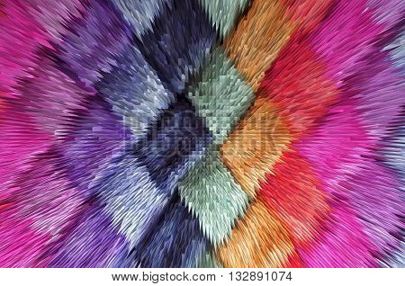 texture of colored fabric Pyramid extrusion color background gradient for backgrounds and textures
