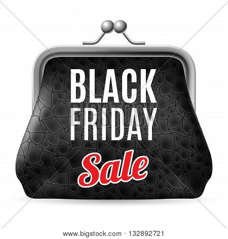 Black Friday discounts increasing consumer growth. Black leather purse