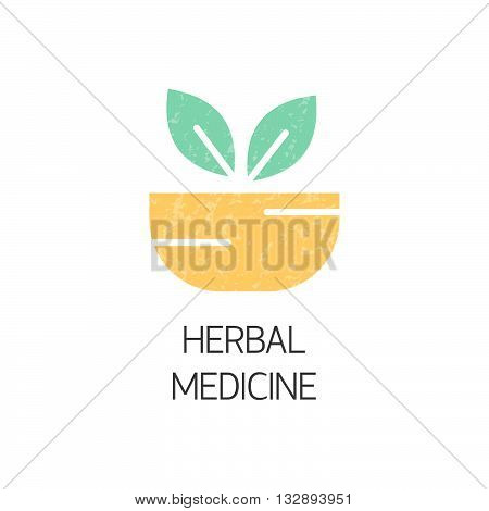 Flat style logotype template with organic emblems. Herbal medicine natural concepts alternative medicine and holistic centers signs. Isolated on background. Logo for your business. Medicine concept.
