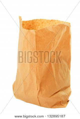 paper open, bag isolated on white background