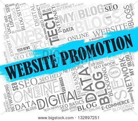Website Promotion Represents Save Promotional And Savings