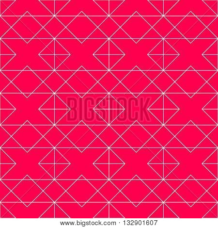 Seamless geometric pattern. Vector seamless pattern. Geometric background with rhombus and nodes. Geometric design.