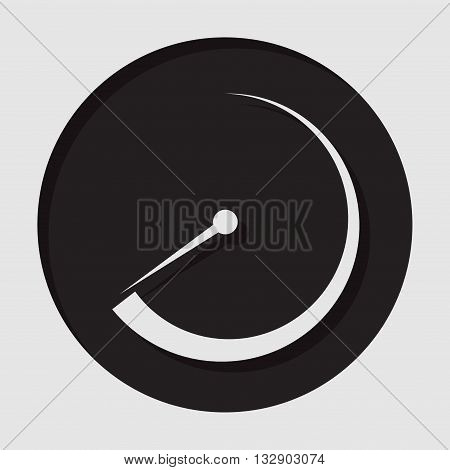 information icon - dark circle with white dial symbol and shadow