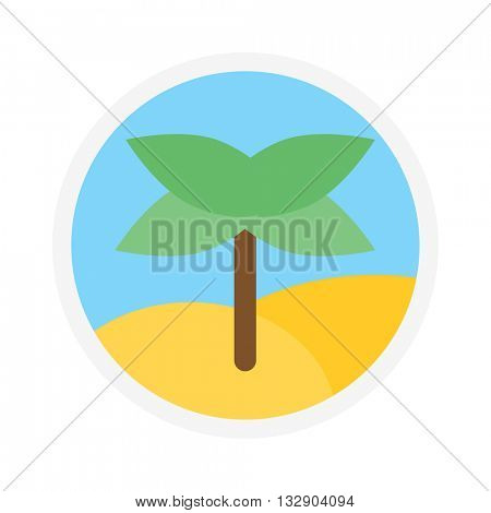 Palm icon logo isolated vector.