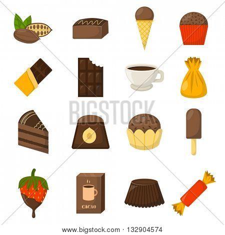Chocolate symbols vector illustration.
