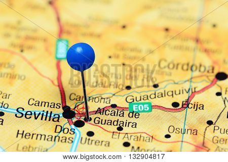 Alcala de Guadaira pinned on a map of Spain