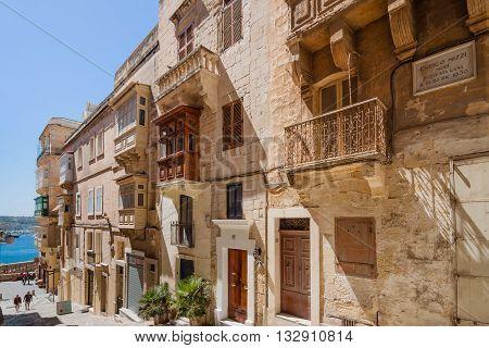 Valletta Malta - May 05 2016:From the streets and alleys of Valletta Malta