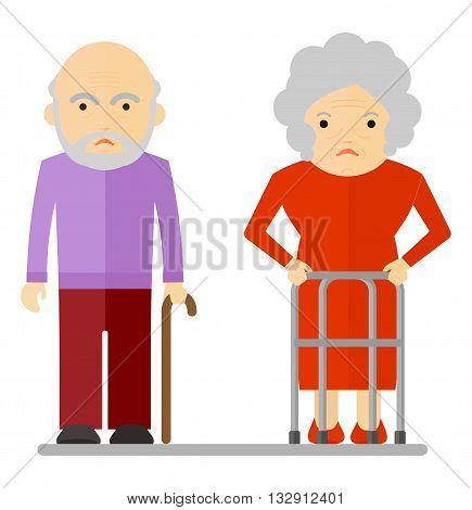 Elderly Couple Sad