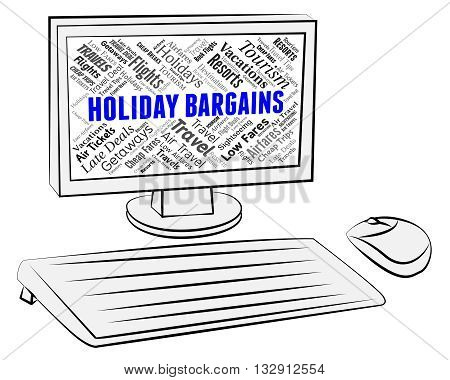 Holiday Bargains Indicates Discounts Break And Vacationing