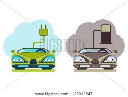 Modern Cars Green Energy And Pollution