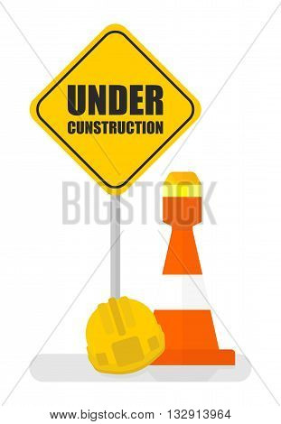 Warning Sign Under Construction