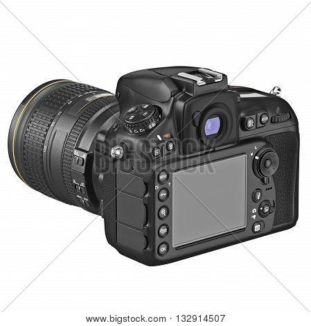 Digital camera with large LCD display. 3D graphic