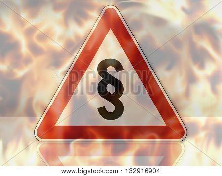 German Road Sign German Law Sign