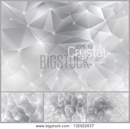 Polygonal crystal abstract background. Each background separately on different layers. Available in 4 variants and created in RGB mode
