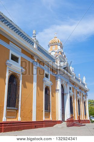 GRANADA NICARAGUA - MARCH 20 : The Xalteva church in Granada Nicaragua on March 20 2016. this church takes its name from the indigenous settlement where it was built.