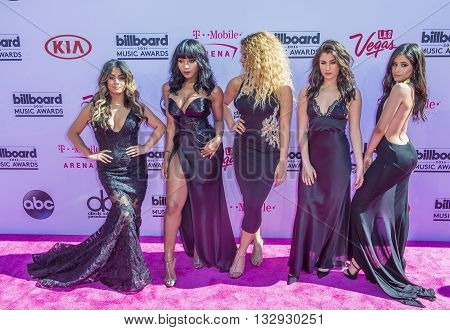 LAS VEGAS - MAY 22 : (L-R) Singers Ally Brooke Normani Hamilton Dinah-Jane Hansen Lauren Jauregui and Camila Cabello of Fifth Harmony attend the 2016 Billboard Music Awards on May 22 2016 in Las Vegas