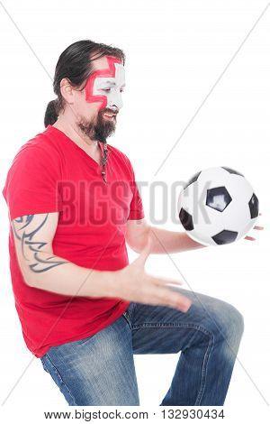 Male Swiss Soccer Fan