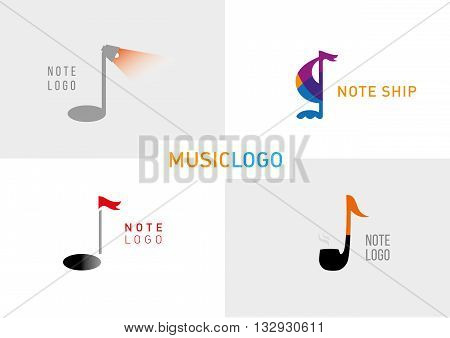 the development of a series of creative logos on a musical theme