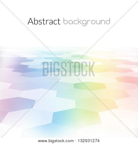 Colorful hex grid background texture. Vector Illustration