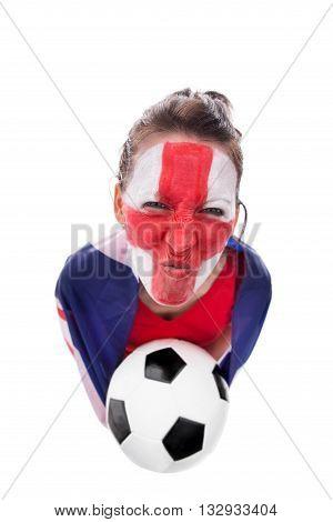 Female English Soccer Fan