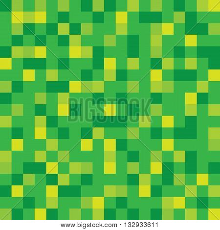 Abstract vector block texture green. Pixel background.