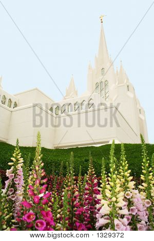 Temple With Flowers