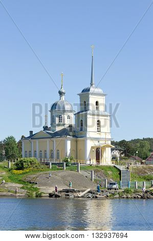PETROZAVODSK, RUSSIA - MAY 29TH, 2016: Christian orthodox