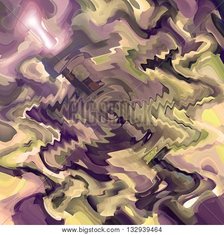 Abstract coloring brushed aluminium gradients background with visual cubism,zigzag and lens flare effects