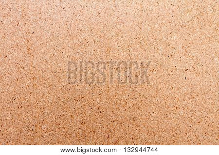 Close up of brown board texture chipboard