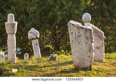 Tombstones At Muslim Cemetery