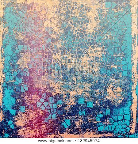 Elegant vintage background, grunge design template. Ancient texture with different color patterns: yellow (beige); blue; purple (violet); pink; cyan