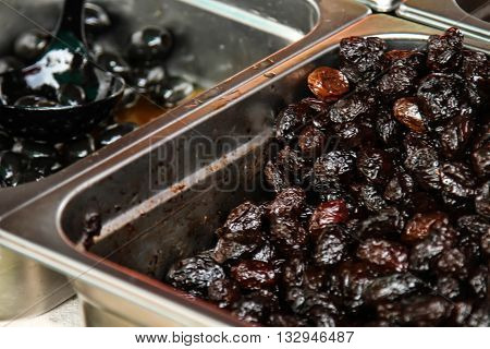 Assorted Marinated Olives In Small Bowls