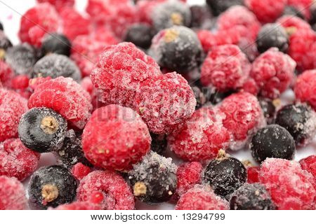 The frozen berries
