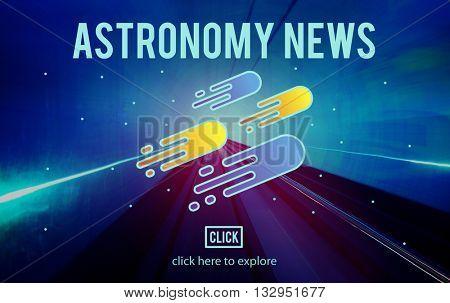 Astronomy News Exploration Nebular Concept