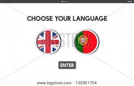 Protugal English Communication Language Concept