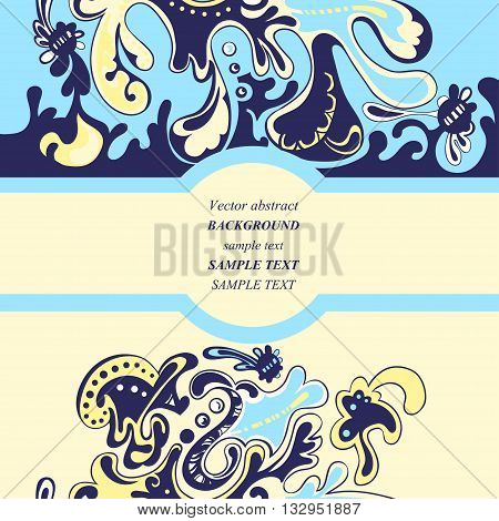 Blue modern abstract background. Vector abstract illustration
