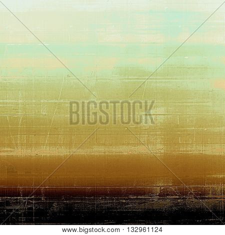Vintage style designed background, scratched grungy texture with different color patterns: yellow (beige); brown; gray; black; cyan
