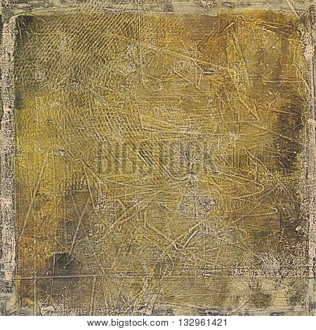 Old school aged texture or background for retro grunge design. With different color patterns: yellow (beige); brown; gray; black