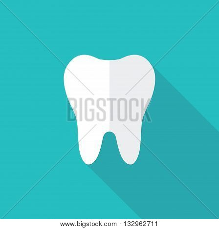 Simple vector icon silhouette of a tooth