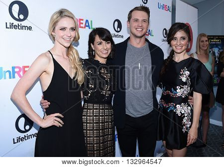 LOS ANGELES - JUN 04:  Johanna Braddy, Constance Zimmer, Freddie Stroma & Shiri Appleby arrives to the 'UnReal' FYC ATAS Event  on June 04, 2016 in Hollywood, CA.