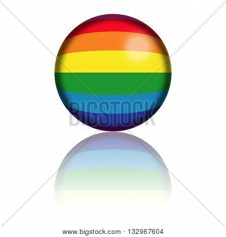 Rainbow Flag Sphere 3D Rendering