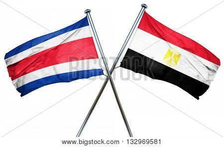 Costa Rica flag with Egypt flag, 3D rendering