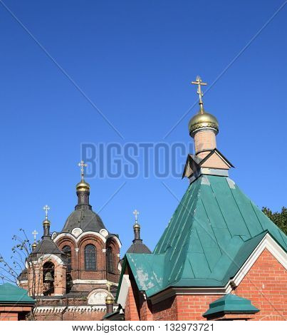 image of one church at dry day